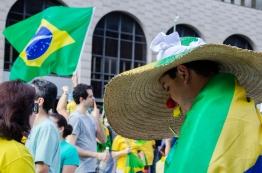 Foto registrada em umas das manifestações na Avenida Paulista contra a crise financeira que o Brasil passa.