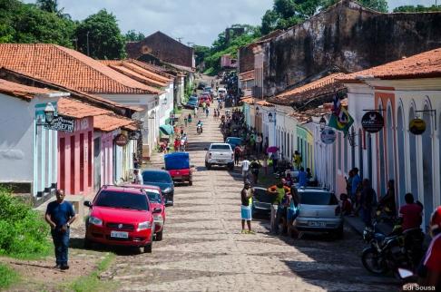 Movimento do centro da cidade de Alcântara MA